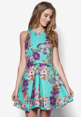 花色褶飾裙擺洋裝, 服esprit童裝門市飾, 夏日洋裝