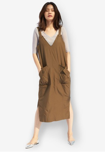 V 領羅紋短袖汗衫, esprit門市服飾, 上衣