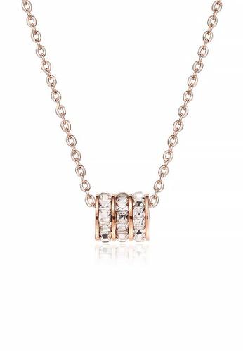 CELOVIS gold CELOVIS - Orabelle Triple-Row Zirconia Necklace in Rose Gold 8E2DDAC6A33320GS_1
