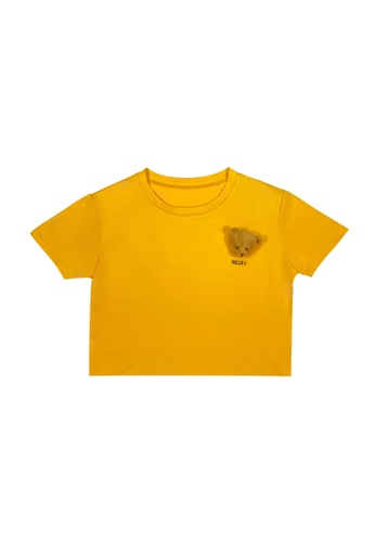 DRUM yellow HELLO BEAR TEE- YELLOW B6FB4AA4FFB862GS_1