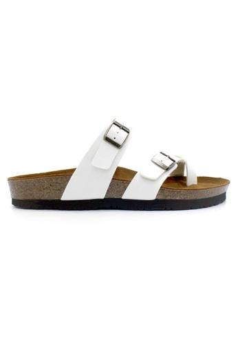 SoleSimple 白色 Dublin - 白色 百搭/搭帶 軟木涼鞋 FD604SHED1B414GS_1