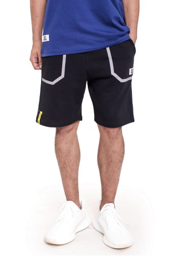 Reoparudo black RPD Reflective Pocket Sweat Shorts (Black) 78B60AA04018F6GS_1