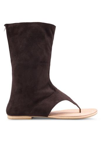 Sulima brown Suede Sandal Boots SU915SH71VOYMY_1