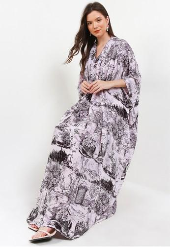 Kamilaa by Itang Yunasz purple Kaftan Modern 66F84AA2CD2160GS_1