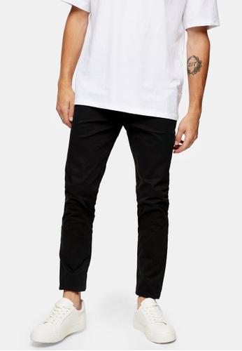 Topman black Organic Black Skinny Chino Pants F13B6AA69EA79DGS_1