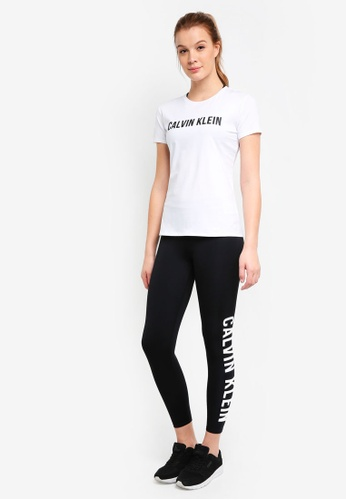 Calvin Klein black Side Logo 7/8 Leggings - Calvin Klein Performance 26B7BAA1A3FC0DGS_1