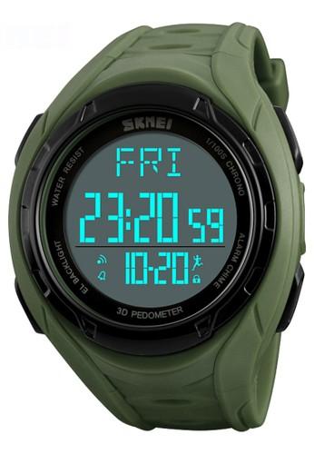 Digitec green Skmei Pedometer - Jam Tangan Pria - Green - Resin Strap - 1315-B 5794CAC11B902BGS_1