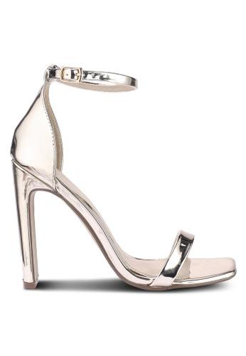 MISSGUIDED 金色 金屬感繞帶高跟鞋 A9B5CSH18F42DAGS_1