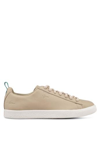 Puma Select brown and beige Puma x Big Sean Clyde Shoes F858FSH44724A3GS_1