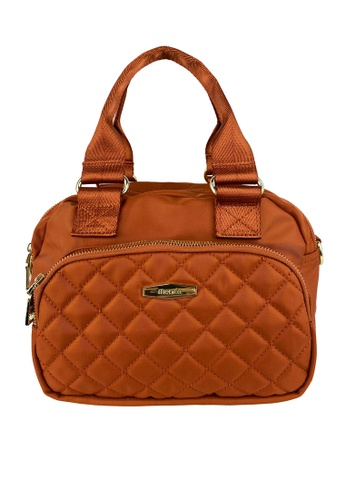 Mel&Co orange Front Quilted Nylon Satchel Bag 90B02ACD1A32BCGS_1