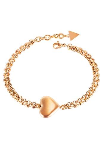 YOUNIQ YOUNIQ DOER 18K Rosegold Titanium Steel Big Heart Love Bracelet FAB1FAC341F5A3GS_1