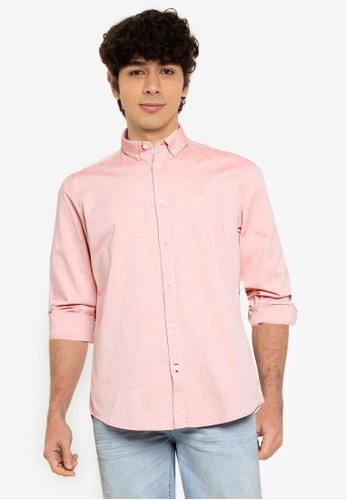 Springfield pink Pinpoint Shirt 14B48AAF7C827BGS_1