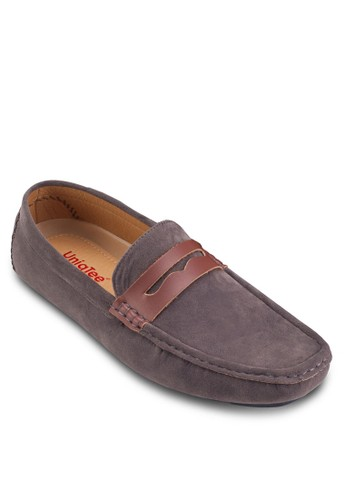 仿皮拼接麂皮船型鞋esprit outlet 高雄, 鞋, 懶人鞋