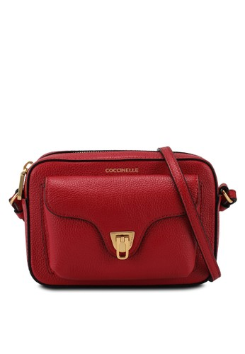 Coccinelle red Beat Soft Sling Bag BE9B7ACAEC10B8GS_1