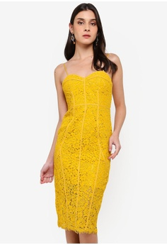 cb54086d876 Bardot yellow Sophia Lace Dress A1DD0AA5AFB0B6GS 1