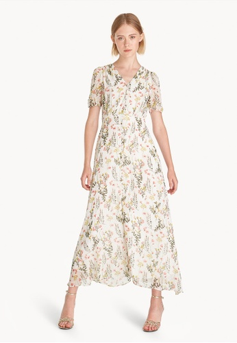 Pomelo white Maxi Puffed Sleeves Floral Dress - White 412A0AA6DE9658GS 1 39423db6f