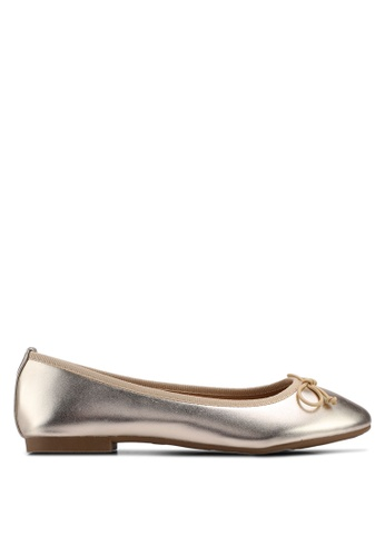 Carlton London gold Round Toe Ballerinas C81AFSHDFE82E0GS_1