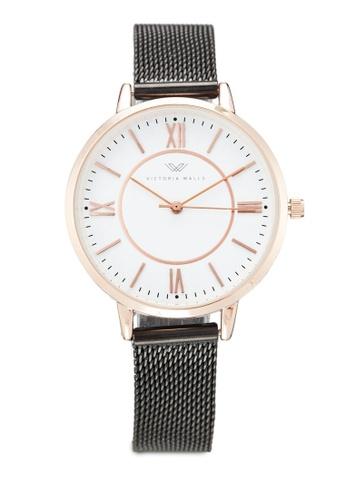 Victoria Walls Watches black Designer Watch-Elegant Milanese Mesh Strap 92F79AC689B4BDGS_1
