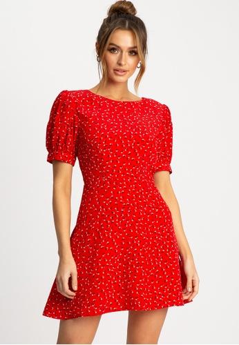 Sável 紅色 Court短洋裝 EA0C0AA38E25A8GS_1