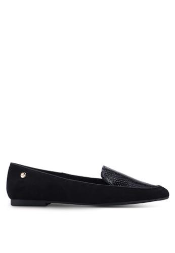River Island 黑色 紋理樂福鞋 B8F5CSH94AB64AGS_1