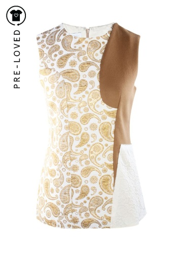 Stella McCartney gold Pre-Loved stella mccartney Gold Jacquard Top. 3C59BAAE715CB4GS_1