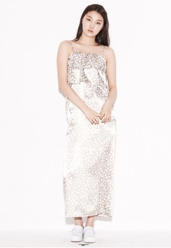 wnderkammer gold Leopard Layered Dress WN055AA29PDUSG_1