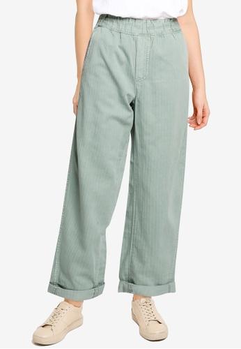 GAP green High Rise Paperbag Pull-On Pants 1632BAA5E77C31GS_1