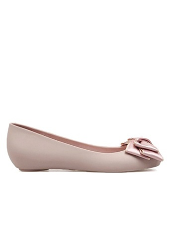 Halo pink Bow Waterproof Jelly Flats Shoes DBF7BSH532261BGS_1