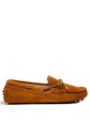 Twenty Eight Shoes 褐色 女裝真猄皮豆豆鞋M99 3A56CSHE0BB939GS_1