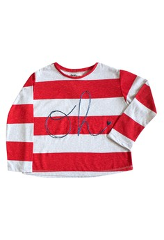 Striped Oh T-Shirt