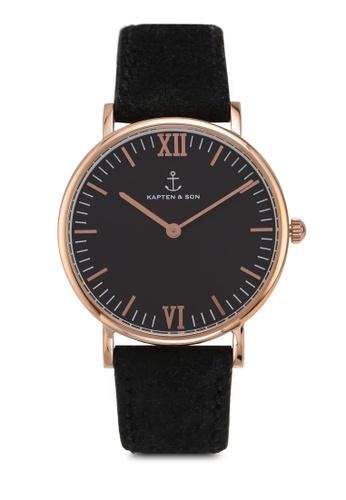 e7a53f8e50a Shop Kapten   Son Campina All Black Vintage Watch Online on ZALORA  Philippines