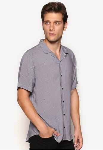 印花短袖襯衫、 服飾、 服飾Topman印花短袖襯衫最新折價