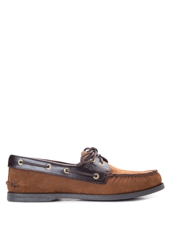 Sperry brown A/O 2-Eye Boat Shoes SP132SH44KXZPH_1