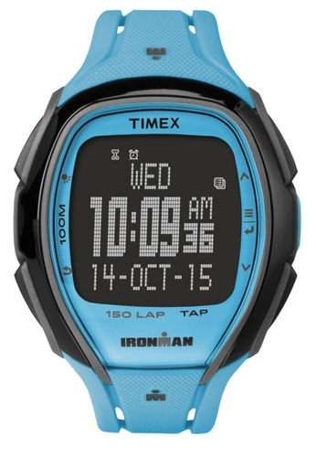 TIMEX blue Timex IRONMAN® Sleek 150 with Black Case and Resin Strap TI857AC15NTCSG_1