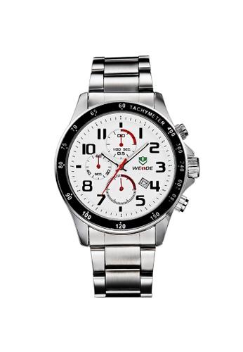 Weide white Weide WH3308 Military Quartz Complete Calendar Display Watch (White) WE079AC68RKTMY_1