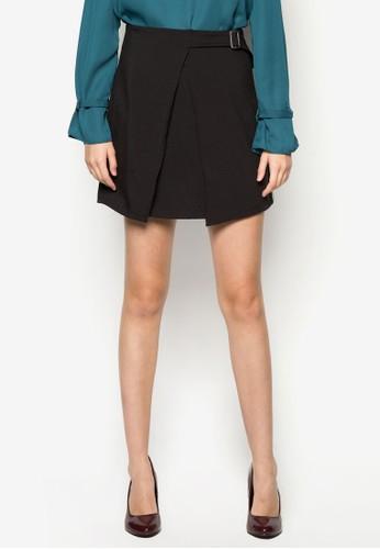 Gemma 素色裹式短裙, 服飾,zalora 鞋評價 裙子