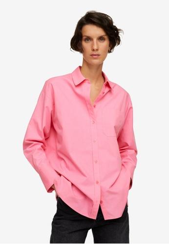 Mango pink Oversize Cotton Shirt D9A74AA9645399GS_1