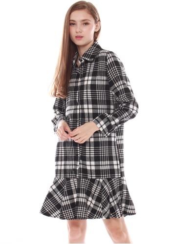JOVET black Check Dress JO914AA0GZC3SG_1