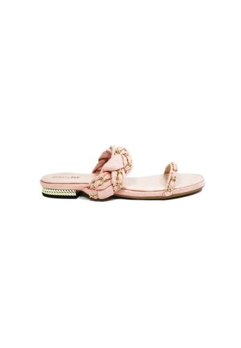 prettyFIT pink Pink Double Chain Flat Sandals SW-778 PR787SH0FST7SG_1
