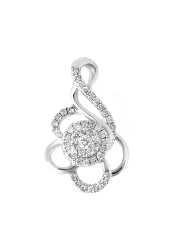 GOLDHEART gold GOLDHEART Florulent with  Enthralling Splendour Pendant, Diamond White Gold 750 (PD17142) A7175ACADA5FA4GS_1