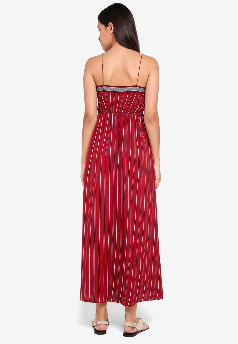 Maroon Maxi Borrowed Cami Dress Wrap Stripes Something wq6XxC