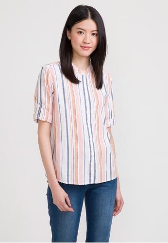 eef8d676 Buy Bossini 3/4 Sleeve Striped Shirt Online on ZALORA Singapore