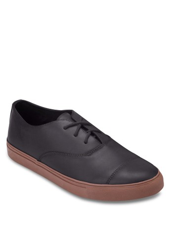 簡約繫帶厚底運動鞋, zalora退貨鞋, 休閒鞋