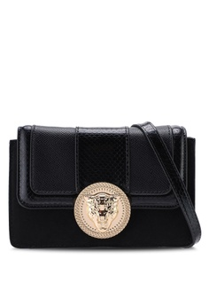 276b2b992 River Island black Lions Head Mini Boxy Bag 1757EAC98002E7GS_1