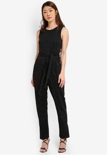 Dorothy Perkins black Glitter Jumpsuit DO816AA0S4SLMY_1
