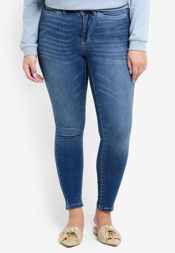 Junarose blue Plus Size Five Shape Jeans 1C822AA6FFB688GS_1