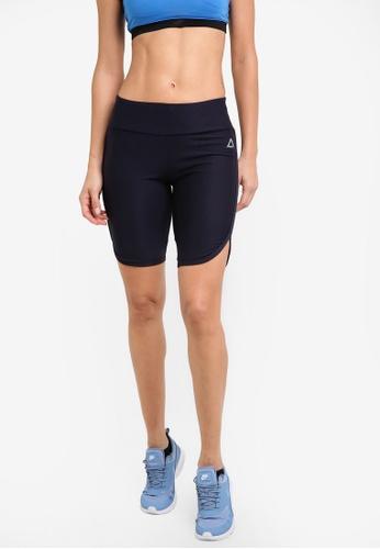 AVIVA blue and navy Knee Length Capri Shorts AV679AA33ZZUMY_1