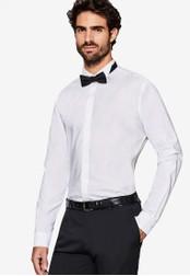 ESPRIT 白色 Woven Long Sleeve Shirt ES374AA0SAZPMY_1
