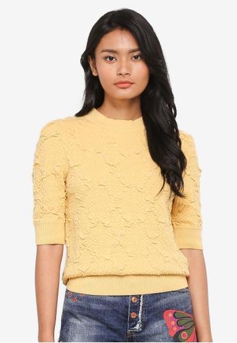 Free People yellow Eden Short Sleeve Top C41F0AAF570787GS_1