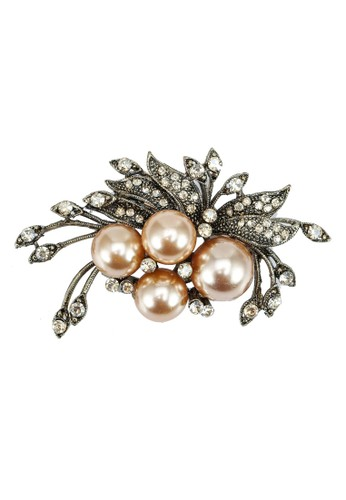 Red's Revenge gold Pearl Peacock Brooch BD895AC10A8C6DGS_1